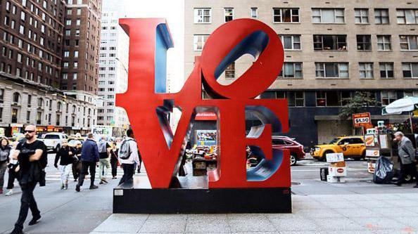 Escultura Love Nova York