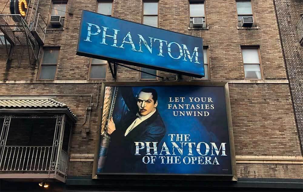 Fantasma da Ópera na Broadway