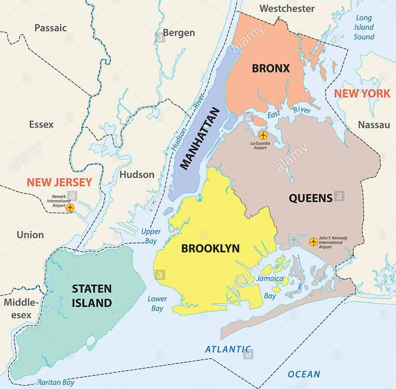 nova iorque mapa Mapa de Nova York: guia de como se localizar na cidade– Dicas Nova  nova iorque mapa