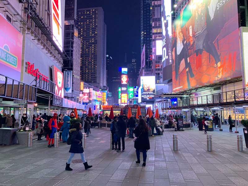 roupas de inverno em nova york