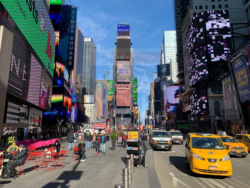 mala de inverno em nova york